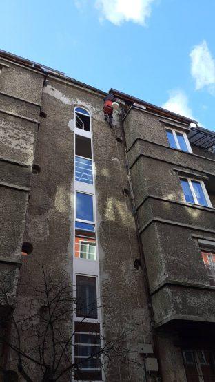 obrushvane na fasada ot alpinisti sofia